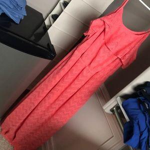 Coral lace dress-2x